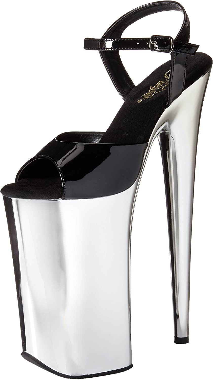 Pleaser Pleaser BEYOND-009 Blk SLV Chrome UK 4 (EU 37)  billiger Laden