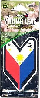 Treefrog Hanging Air Freshener Soshinoya Sampaguita Philippines Flag Badge Single Pack - Jasmine