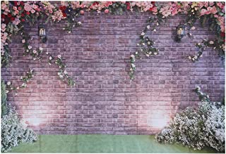 Brick Wall Flowers Vinyl Photography Background Computer Printed Wedding Photography Backdrops for Photo Studio