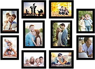 Art Street Photo Frame For Wall Set of 10 Black Picture Frame For Home and Office Decoration Eco Series-Size -5x7 ,6x8 Inc...