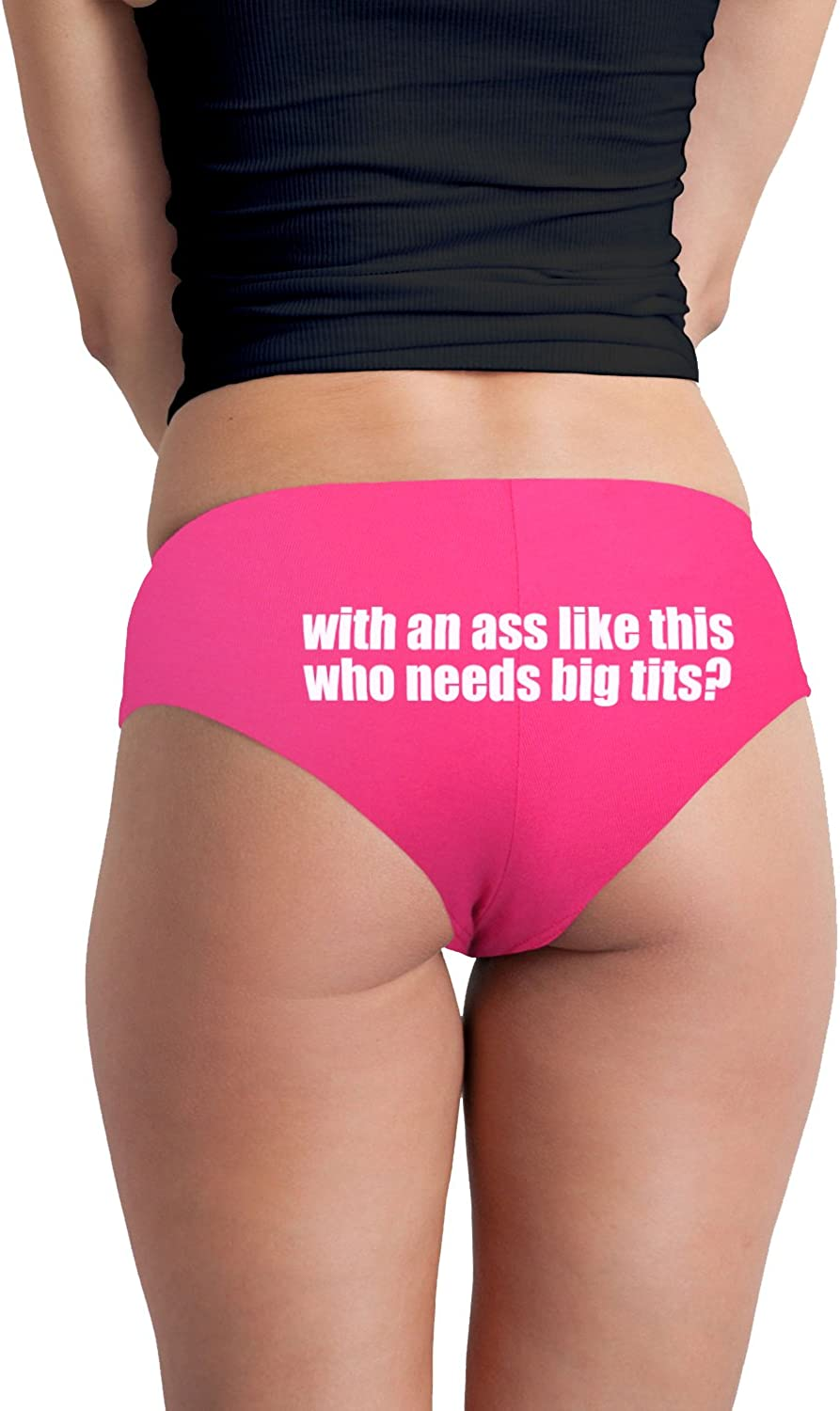 with an Ass Like This Who Needs Big Tits Funny Women's Boyshort Underwear Panties: Clothing