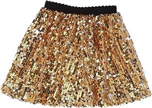 Best girls gold sequin skirt Reviews
