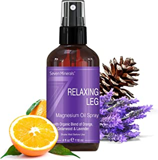 Sponsored Ad - Natural Restless Leg Syndrome Treatment & Cramp Pain Relief - Powerful Magnesium Oil Blend with Organic Ess...