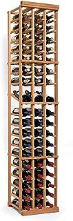 N'FINITY Wine Rack Kit - 3 Column with Display - Natural Finish - Solid Mahogany