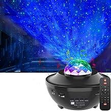LED Star Projector,OxyLED Roterende Ocean Wave Sterrenhemel Nachtlampje,Kleur Veranderende Muziekspeler met Bluetooth&Time...