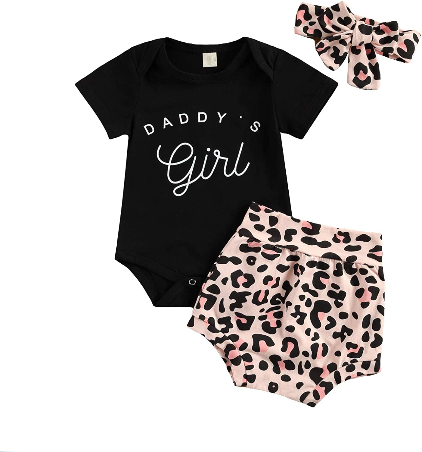 Infant Baby Girl Clothes Floral Shorts Set Ruffle Sleeve Romper + Flower Pants + Headband 3Pcs Summer Outfit Set