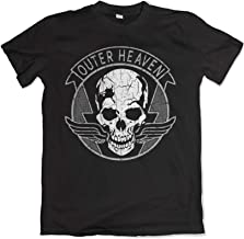 Teamzad Outer Heaven Distressed Solid Black T Shirt