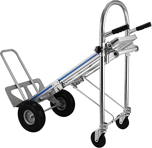 """new arrival SHZOND Hand Truck 3 in 1 Convertible Hand Truck 770LBS sale Capacity Hand Truck Dolly with 10"""" discount Pneumatic Wheels outlet sale"""