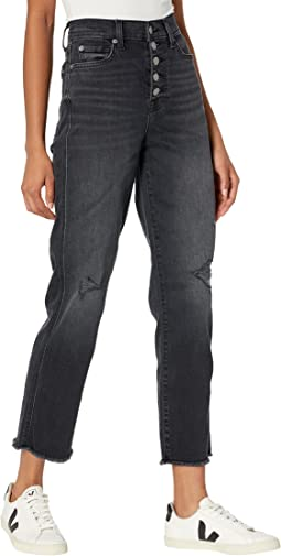 High-Waisted Crop Straight Exposed Buttons in Ashbury