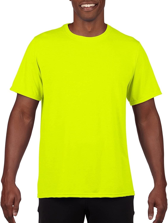 Gildan Men's 100% Polyester Moisture Wicking Performance T-Shirt, Safety Green, XX-Large