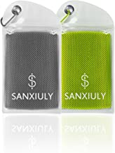 SANXIULY Cooling Towel for Sports, Workout, Fitness, Gym, Yoga, Pilates, Travel, Camping,Hiking,Running,Golf & More
