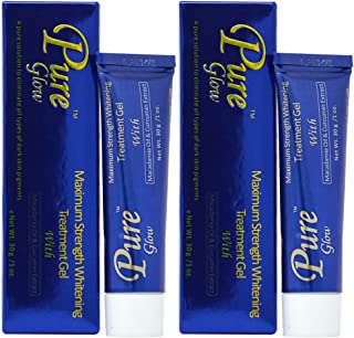 Pure Glow Maximum Strength Whitening Treatment Gel 1oz (Pack of 2)
