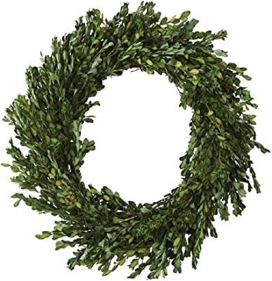 Ac 22 Inch Real Boxwood Wreath Preserved Home Kitchen