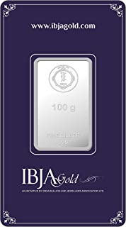 IBJA Gold Investment 100 gm Silver Coin Frames for Women (IG100GMS999INVBR055)