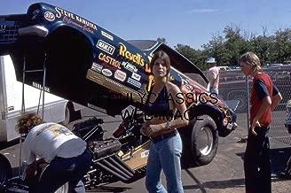 OnlyClassics 1973 Jungle Jim LIBERMAN PAM Hardy Pinup 8X12 Photo NHRA Drag Racing Funny CAR