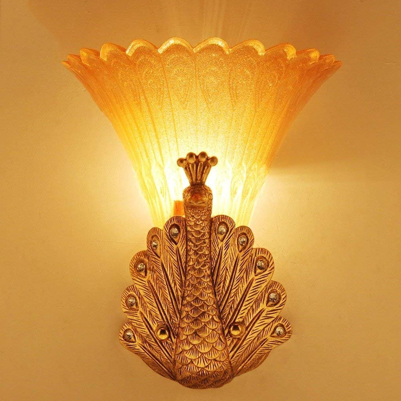 JU JU JU Wandleuchte Europäischen Stil Retro Peacock Wandleuchte Bar Dekoration Wandleuchte Wohnzimmer Nachttischlampe Glas Lampe B07FZWYTJ2 | Sonderpreis  ccd9ea