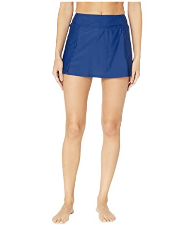 Maxine of Hollywood Swimwear Solids Separate Waist Band Skort Bottoms (Navy) Women
