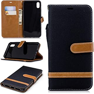 Multifunctional leather case Color Matching Denim Texture Leather Case for Huawei Honor 6X, with Holder & Card Slots & Wal...
