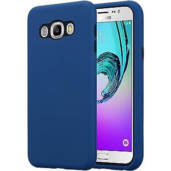 Cadorabo Funda para Samsung Galaxy J7 2016 en Azul Oscuro – Hybrid ...
