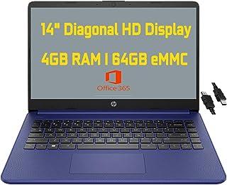 2021 Flagship HP ノートパソコン 14 コンピューター 14インチ 対角 HD ディスプレイ Intel Celeron N4020 4GB RAM 64GB eMMC Intel UHD グラフィックス 600 USB-C H...