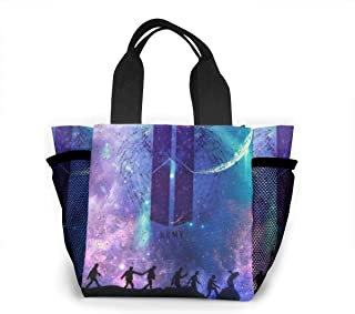 BTS ARMY NEW LOGO Lunch Bags Insulated Travel Picnic Lunchbox Tote Handbag For Women Teens Girls