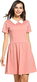 baby pink peter pan collar dress