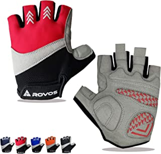 ROVOS Bike Gloves Men & Women Cycling Gloves Bicycle Gloves Bicycling Gloves Half Finger...