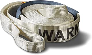 WARN 88924 Nylon Webbing Premium Recovery Strap, 10.8 Ton (21,600 lb) Capacity, 3' Width x 30' Length, White