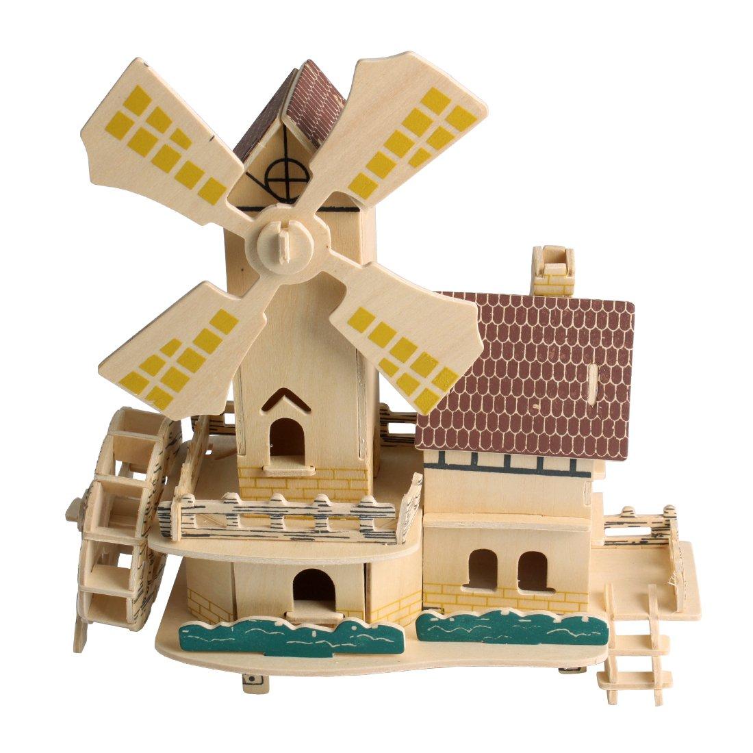 Andux Wooden 3D Puzzle Construction Kit