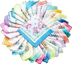 La closure Womens Vintage Floral Cotton Handkerchiefs Wedding Party Bulk Pack
