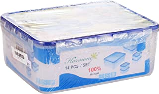 Harmony 2724623275864 Microwave Container - 14 Pieces, Clear
