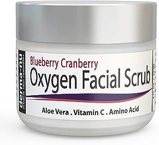 Derma-nu - Oxygen Facial Scrub - Blueberry Cranberry Anti Oxidant Face Exfoliating Scrub - With Aloe Vera, Vitamin C and A...