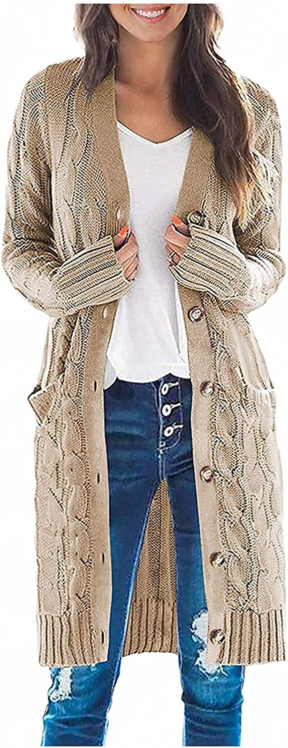 Sweaters for Women Open Front Plus Size Cardigan Sweaters Chunky Knit Cardigan Lightweight Duster Cardigan