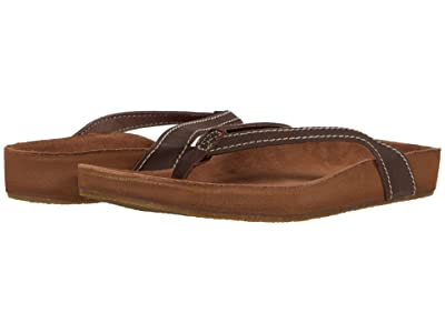 Sanuk She Loungy Leather (Brown) Women