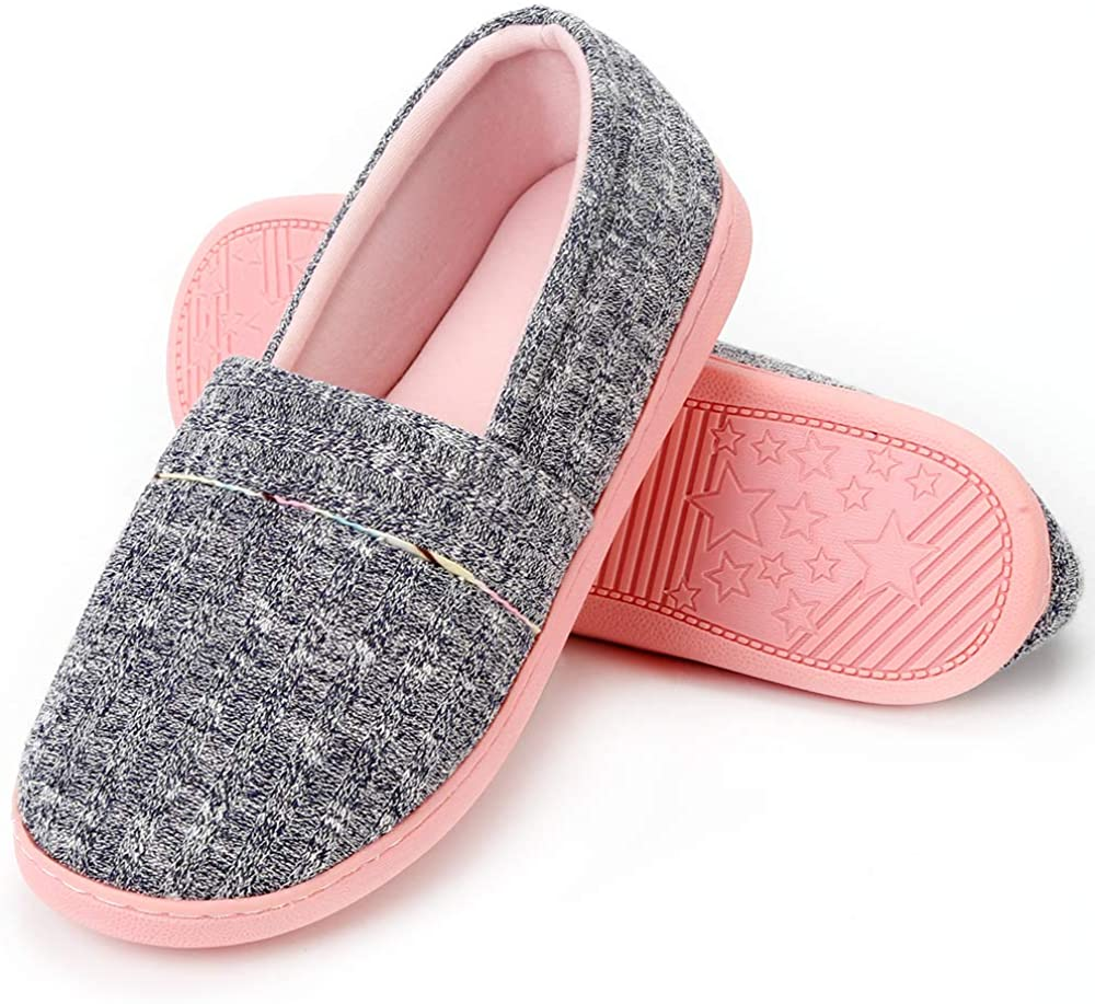 Urbancolor Women Washable Closed Back Indoor Slippers Anti-Slip House Slipper Breathable Home Shoes
