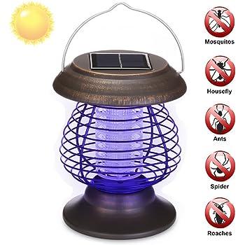 Model A ZL Energia Solare Zanzara Killer Lampada LED Luce UV Repellente per Zanzare Antizanzare per Giardino Esterno Cortile Prato Percorso Classe di Efficienza Energetica A