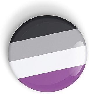 Asexual Pride Flag pin badge button or magnet, Orgullo bandera botón de insignia o imán de nevera LGBT LGBTQ LGBTQI LGBTQIA