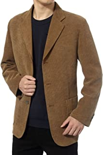 Outwear New Middle-Aged Men's Business Casual Suit Corduroy Suit Jacket Spring and Autumn Solid Color Blazer Coat Mens Bla...