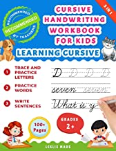 Cursive Handwriting Workbook for Kids: Learning Cursive for 2nd 3rd 4th and 5th Graders, 3 in 1 Cursive Tracing Book Inclu...