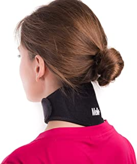Neck Pain Relief Wrap by Mello - Chronic Neck Stiffness Brace-Soft Cervical Support Collar-Health Magnet Physical Therapy for Migraines Headache -Comfortable Air, Car Travel (XL)