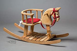 Christmas Rocking Horse - Wander Herald - Ride on wooden horse - Classic English Rocking Horse - Royal Toy - Best Gift for Baby