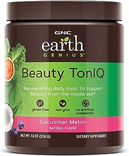 GNC Earth Genius Beauty TonIQ - Cucumber Melon, 20 Servings, Improves Skin Tone with 5 Grams of Marine Base...