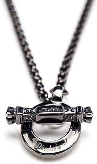 قلادة OT Toggle للرجال، مجوهرات القوطية من الفولاذ المقاوم للصدأ، سلسلة ماسكيلين للرجال، أسود، 66 سم