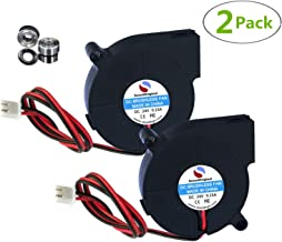 SoundOriginal 24V DC Brushless Blower Cooling Fan 50x50x15mm,for 3D Printer Humidifier Aromatherapy and Other Small Appliances Series Repair Replacement (24v Dual Ball Bearing 2pack)