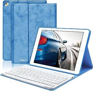 BaiBaO iPad Keyboard Case 9.7 for iPad 2018(6th Gen) iPad 2017 (5th Gen) iPad Pro 9.7 iPad Air 2 Air 1 iPad Case with Detachable Bluetooth Keyboard (Blue)