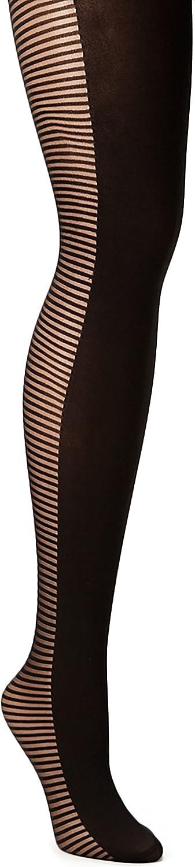 Vince Camuto Womens Tights Stripe Medium Large Black