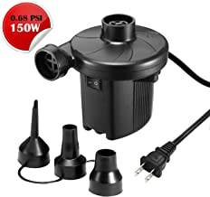 K KUMEED Electric Air Pump Quick-Fill Inflator for Inflatables Camp Bed Mattress Rafts Pool Float, Portable Air Pump Inflator Deflator in 110V - Black