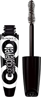 Rimmel Scandaleyes Retroglam Mascara, Extreme Black Longwear Mascara for a False Eyelash Look, 0.41 Fl Oz (Pack of 1)