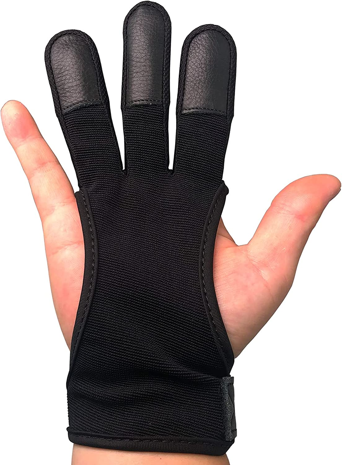 ArcheryMax Handmade Three Finger Protector for Youth Adult Beginner Shooting Hunting Leather Archery Gloves : Sports & Outdoors