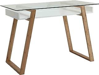 Convenience Concepts Oslo Sundance Desk, White/Glass